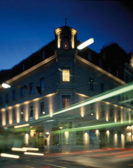 Hotel Gollner Außenansicht Dämmerung