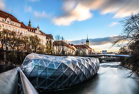 Murinsel Sehenswürdigkeit Graz