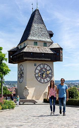Uhrturm Sehenswürdigkeit Graz